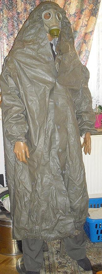 ABC Schutzanzug Strahlenschutzmantel Gasmaske Gummianzug Halloween Mantel Fetisch