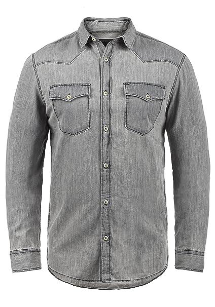 PRODUKT Paulus - Camisa de jeans para hombres: Amazon.es: Ropa y accesorios
