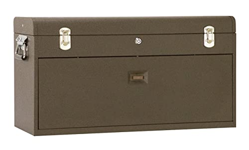 Kennedy Manufacturing 526B 8-Drawer Machinist s Chest with Friction Slides, Brown Wrinkle