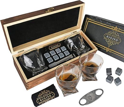 Amazon.com: Eyozka - Juego de vasos de whisky y cortador de ...