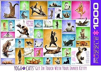 Eurographics 6000-0953 - Puzzle (1000 Piezas), diseño de Gatos de Yoga: Amazon.es: Juguetes y juegos