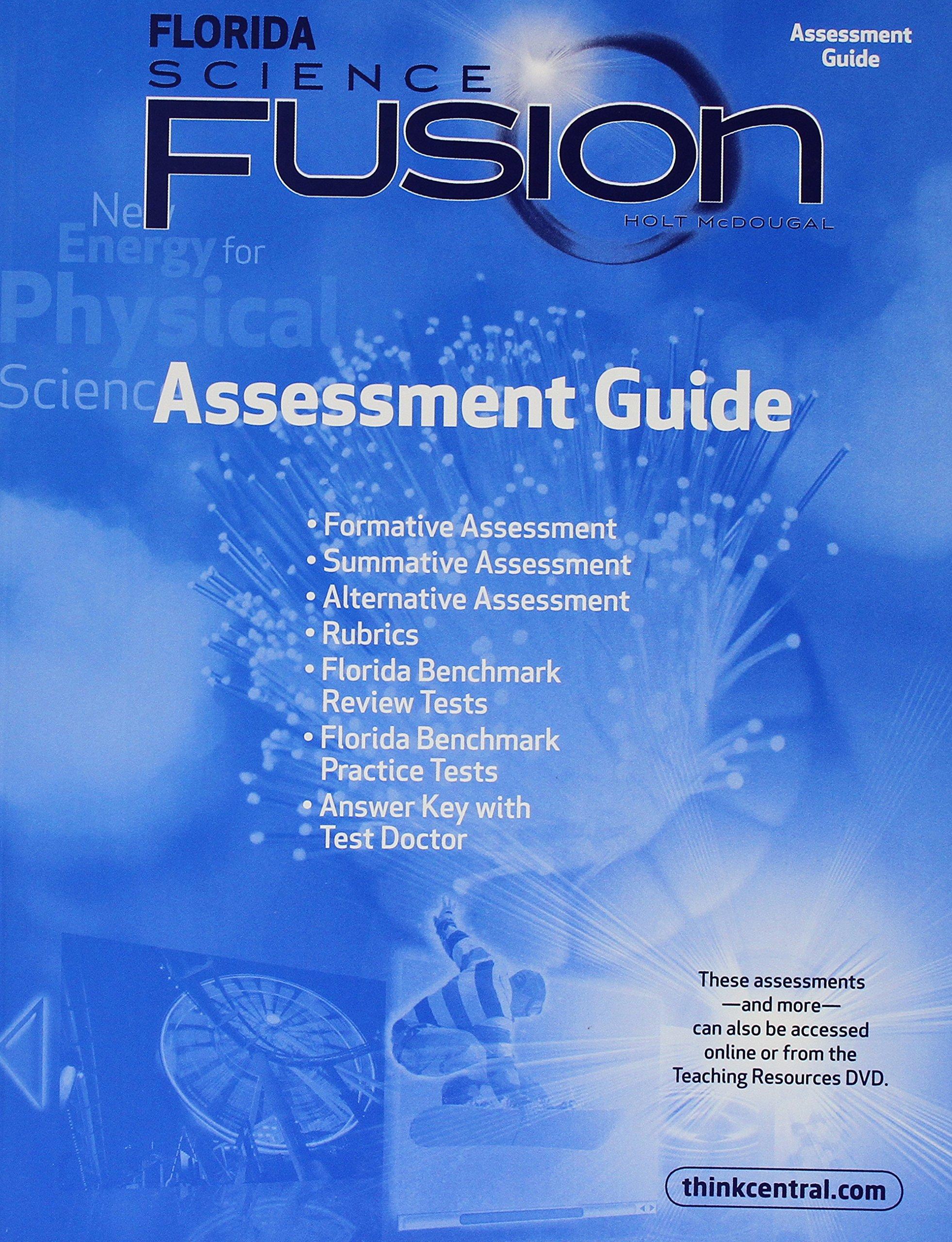 Holt McDougal Science Fusion Florida: Assessment Guide Grades 6-8 Physcial: HOUGHTON  MIFFLIN HARCOURT: 9780547398945: Amazon.com: Books
