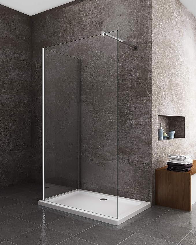 Mampara de ducha Walk-in angular doble cristal 8 mm reversible ...