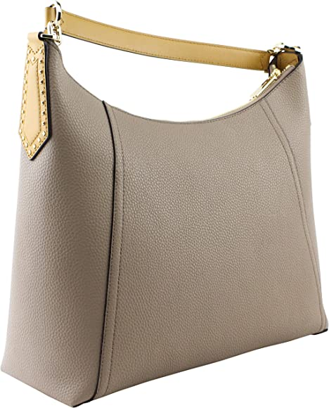 f9c13858974f Kimberly Large Studded Leather Shoulder Bag Purse Handbag with Matching  Wristlet Pouch, Dark Khaki. Michael Kors ...