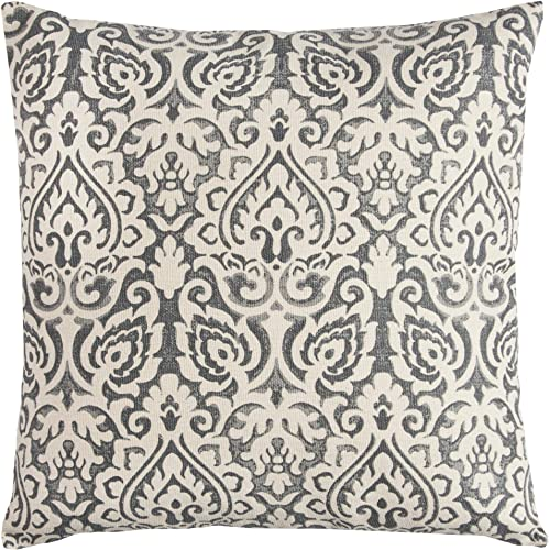 Rizzy Home T10482 Decorative Pillow, 22 X22 , Gray Neurtral