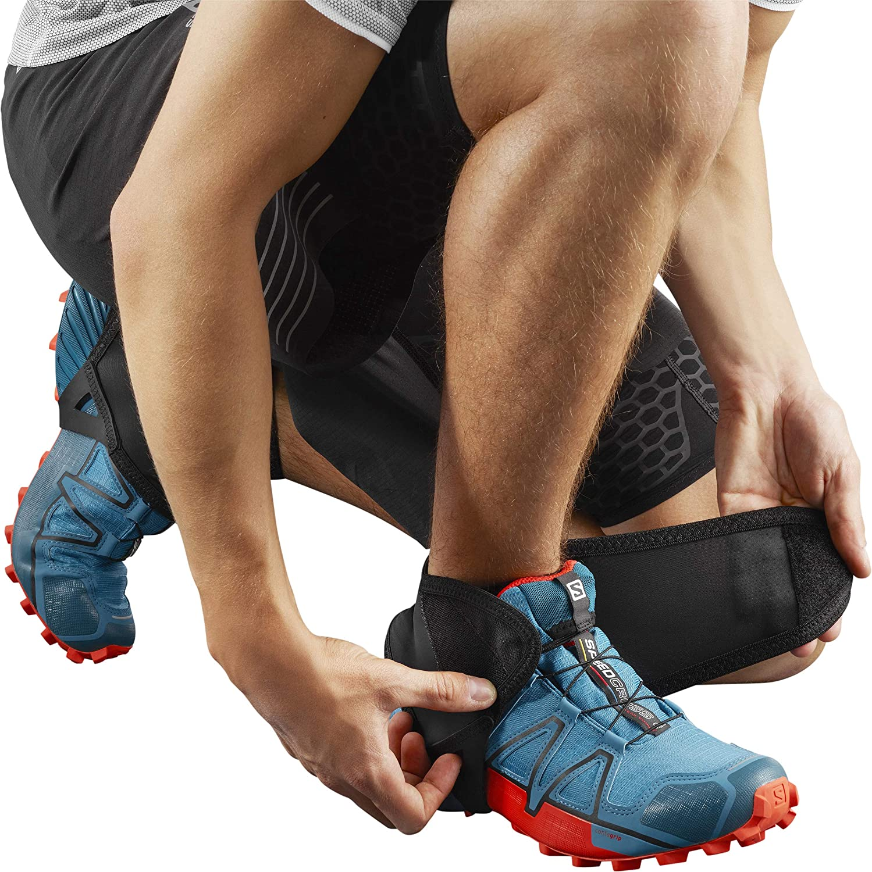 Ghette Basse per Escursionismo//Corsa Protezione per Le Caviglie Unisex Adulto SALOMON Trail Gaiters Low