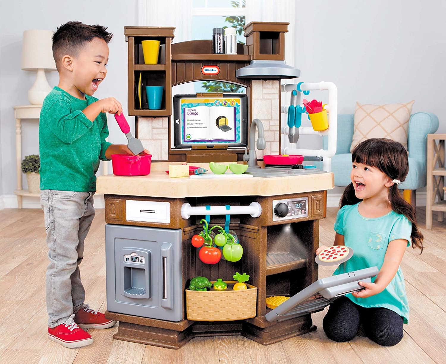 Little Tikes Cook N Learn Smart Kitchen Kitchen Food Juguetes  # Muebles Little Tikes