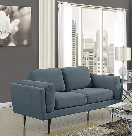 Attirant MYCO Furniture Colby Denim Loveseat