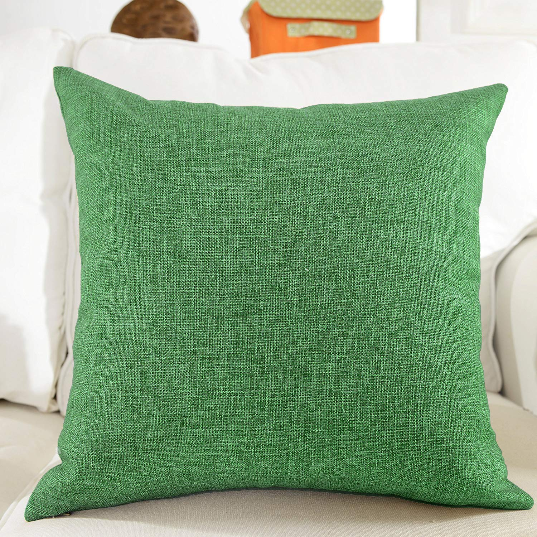 Khooti Jute Cushion Cover, 18x18 (Green)(Pack of 1) (B07KKHWCD5) Amazon Price History, Amazon Price Tracker