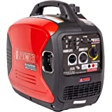 A-iPower SUA2000iV 2000 Watt Portable Inverter Generator Gas Powered, Small with Super Quiet Operation for Home, RV, or Emerg