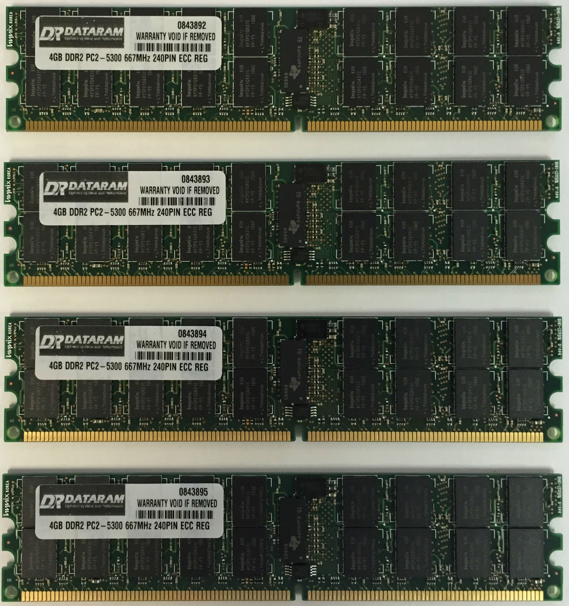 16GB KIT (4 X 4GB) Memoria para IBM System p5 550 8204