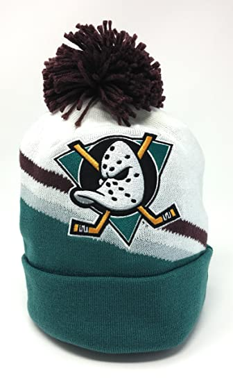 857c39a75ea Amazon.com  Mighty Ducks Mitchell   Ness Away Jersey Hook Knit Hat ...