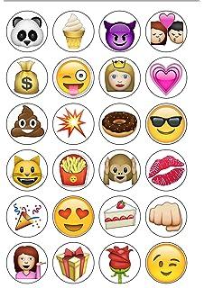 Esspapier Emojis Zum Dekorieren Von Kuchen Und Torten 48 Stück