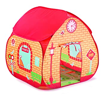 Childrens Pop Up Play Tent Designed like a Train Station / Great for Thomas The Tank  sc 1 st  Amazon.com & Amazon.com: Childrens Pop Up Play Tent Designed like a Train ...