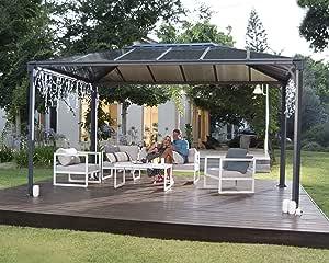 Palram Martinique Carpa de rectángulo para jardín, Gris, Robusta Estructura para Todo el año: Amazon.es: Jardín