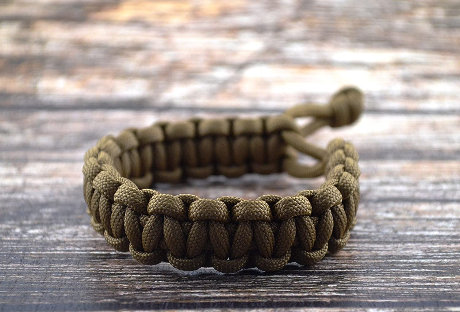 Mad Max Fury Road Tom Hardy Paracord Adjustable Survival Bracelet - COYOTE  BROWN - Size 8