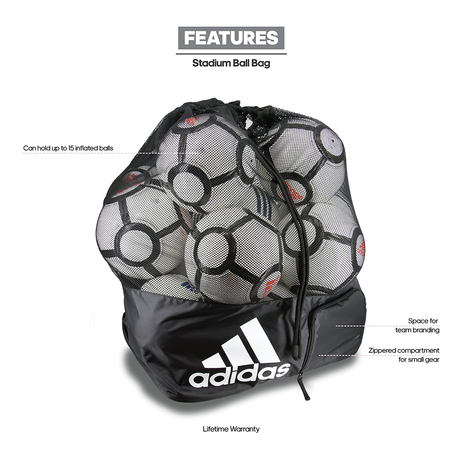 Amazon.com   adidas Team Stadium Ball Bag 5fbe66e948b70