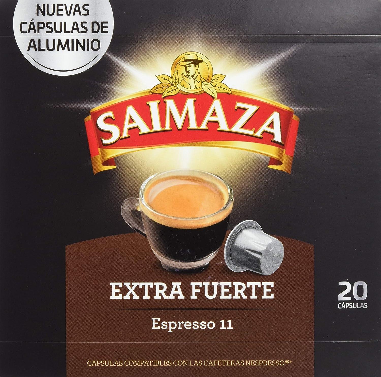 Café Saimaza Espresso Extra Fuerte 20 cápsulas: Amazon.es ...