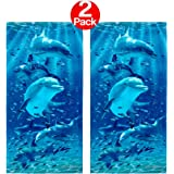Kaufman Sales - Twister Dolphins Beach Towel (106062) - 2 Pack Set