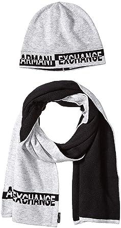 Armani Exchange Knitwear Set Ensemble Bonnet, Écharpe Et Gant Homme, Gris  (Alloy Htr Bc06 3901), Unique (Taille Fabricant  TU)  Amazon.fr  Vêtements  et ... 6facd6588cf