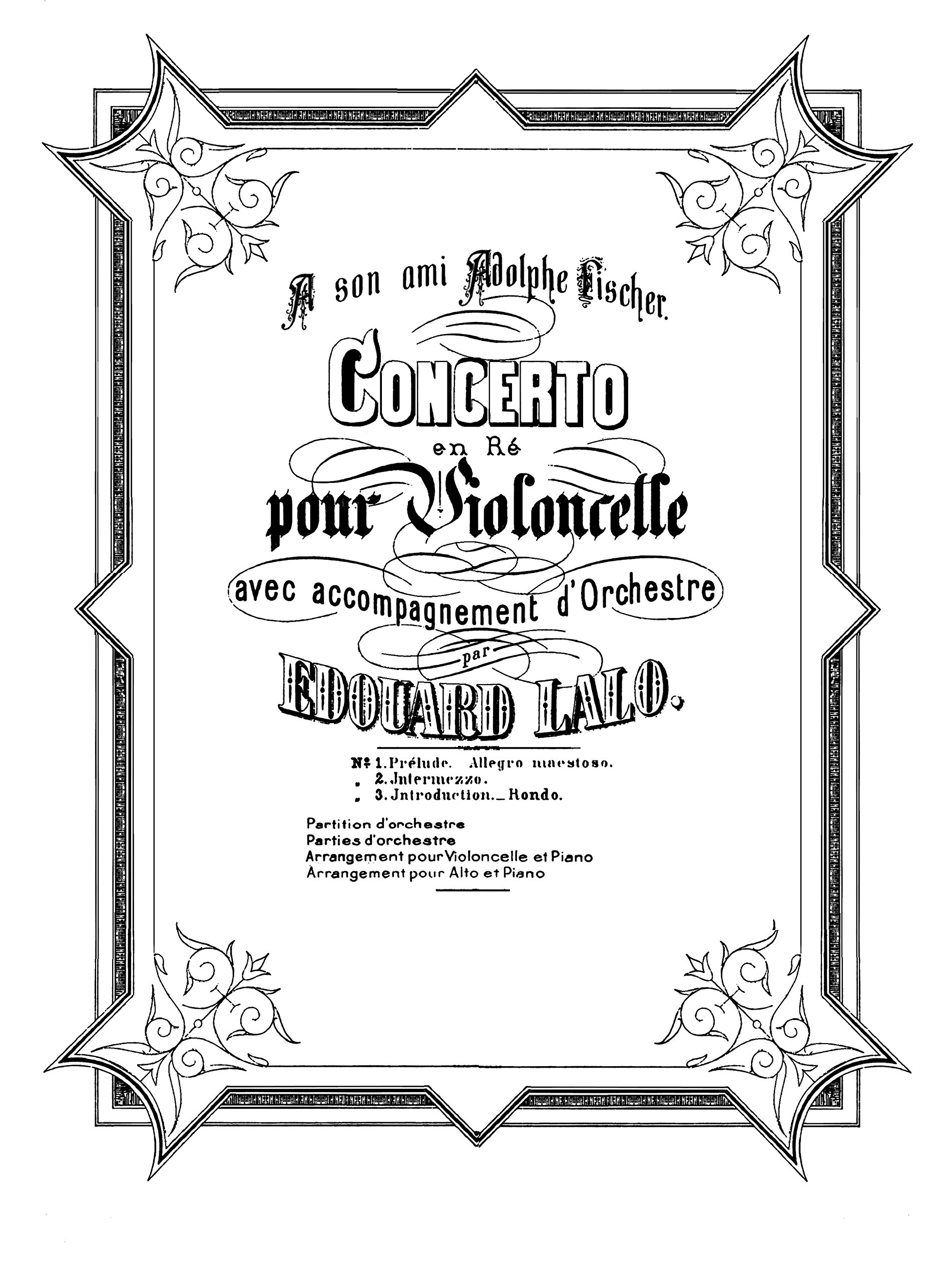 Read Online Cello Concerto by Edouard Lalo. Piano with Cello Score and Cello Part Score. [Student Loose Leaf Facsimile Edition. Re-Imaged from Original for Greater Clarity. 2015] pdf