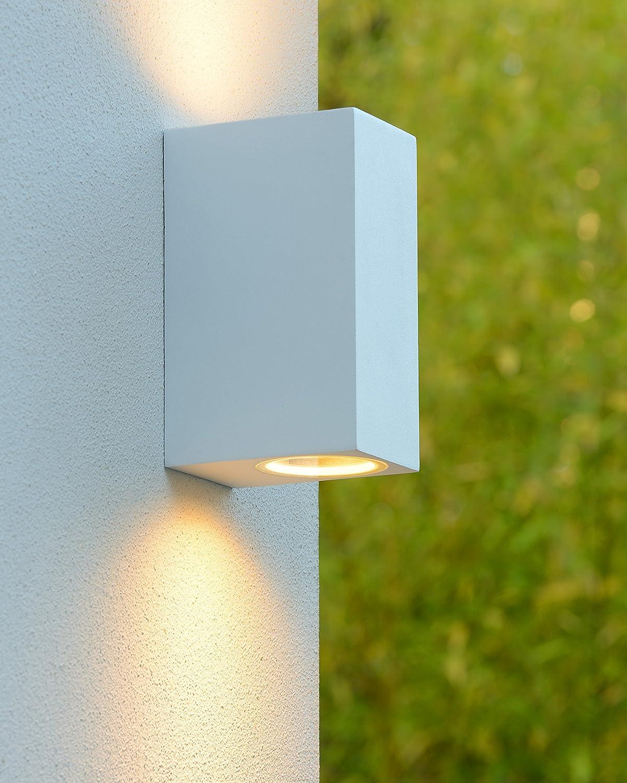 Lucide ZORA-LED - Wandstrahler Außen Außen Außen - LED Dim. - GU10 - 2x5W 3000K - IP44 - Schwarz a2435c
