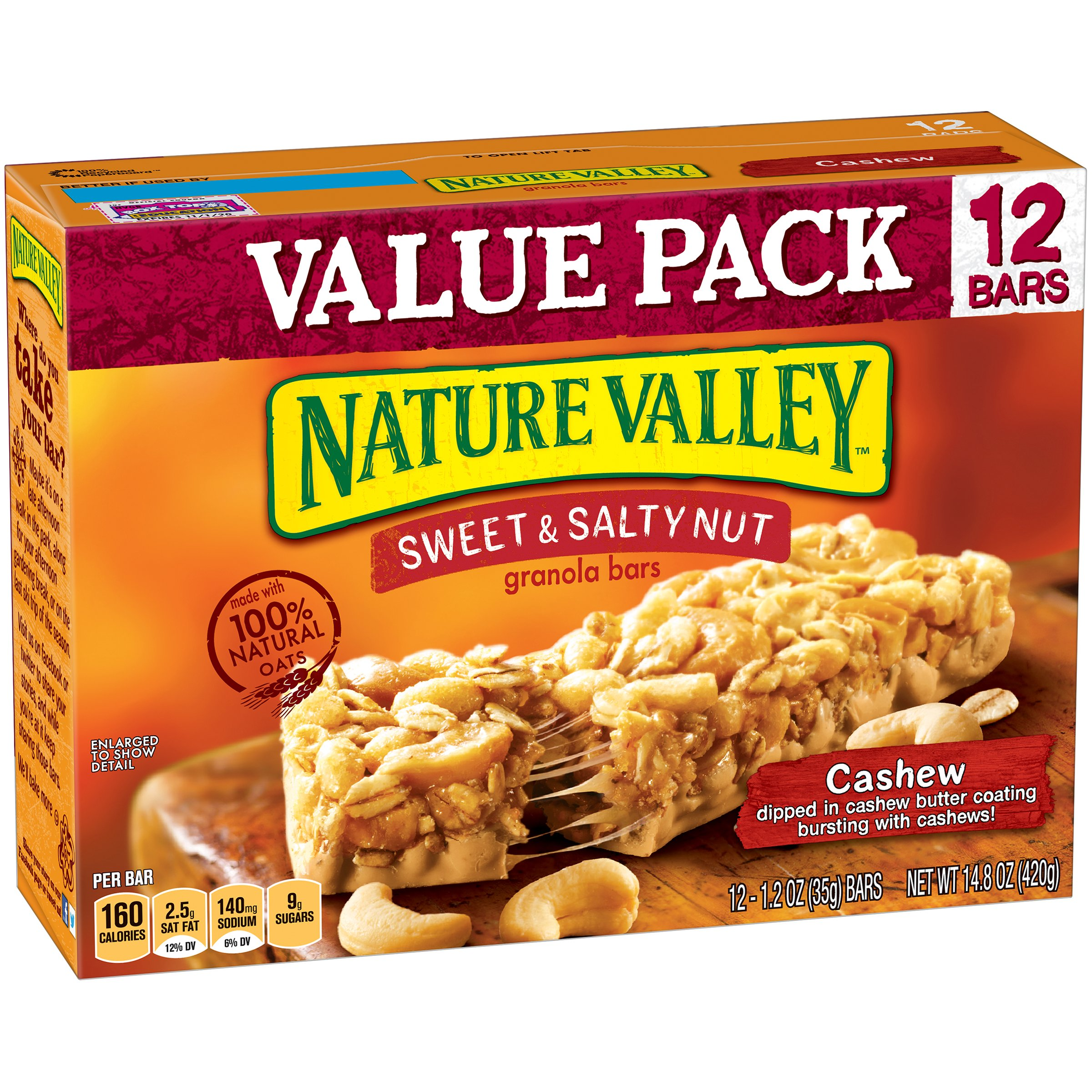granola valley nature salty sweet bar nut bars almond peanut variety cashew oz pack cereal breakfast walmart box snack butter