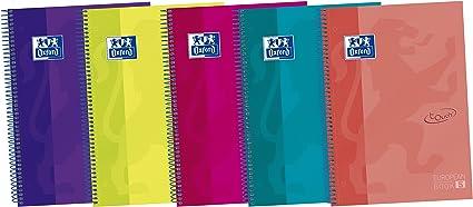 Oxford Touch 400075563 - Pack de 5 cuadernos espiral de tapa extradura, A4+: Amazon.es: Oficina y papelería