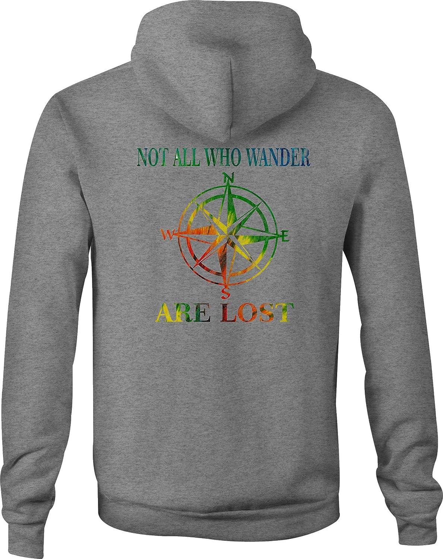 Motorcycle Zip Up Hoodie Not All Who Wander Peace Love Tiedye