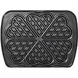 lagrange Jeu de plaque Gaufres cœur pour Gaufrier Premium Noir