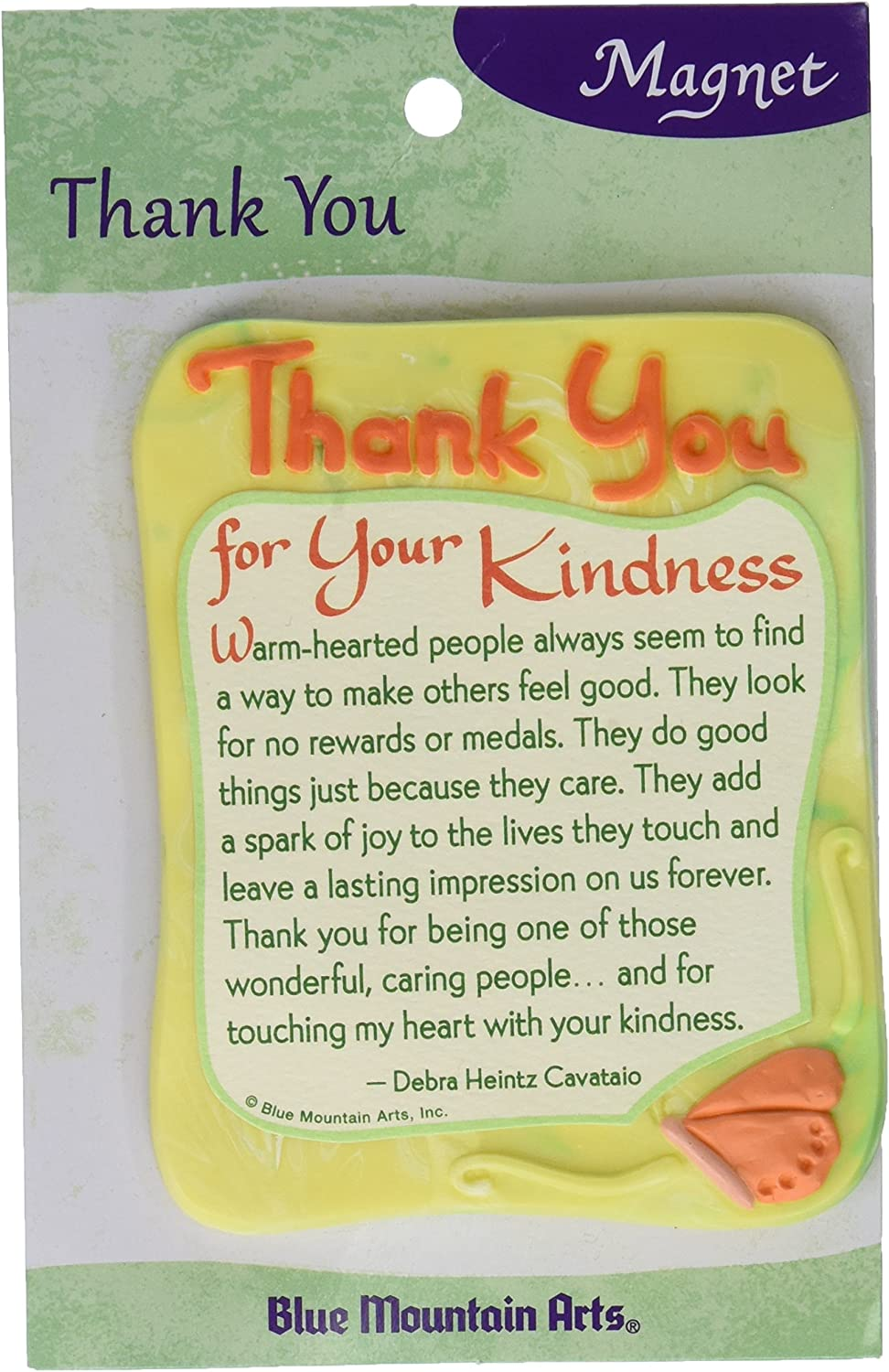 "Sculpted Magnet: Thank You for Your Kindness, 3.0"" x 3.5"""