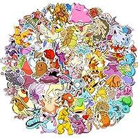 Stickerpakket, 80 stuks coole stickers, laptopstickers van Pokemon, niet-herhaalbaar, waterdicht, stijlvolle graffiti…
