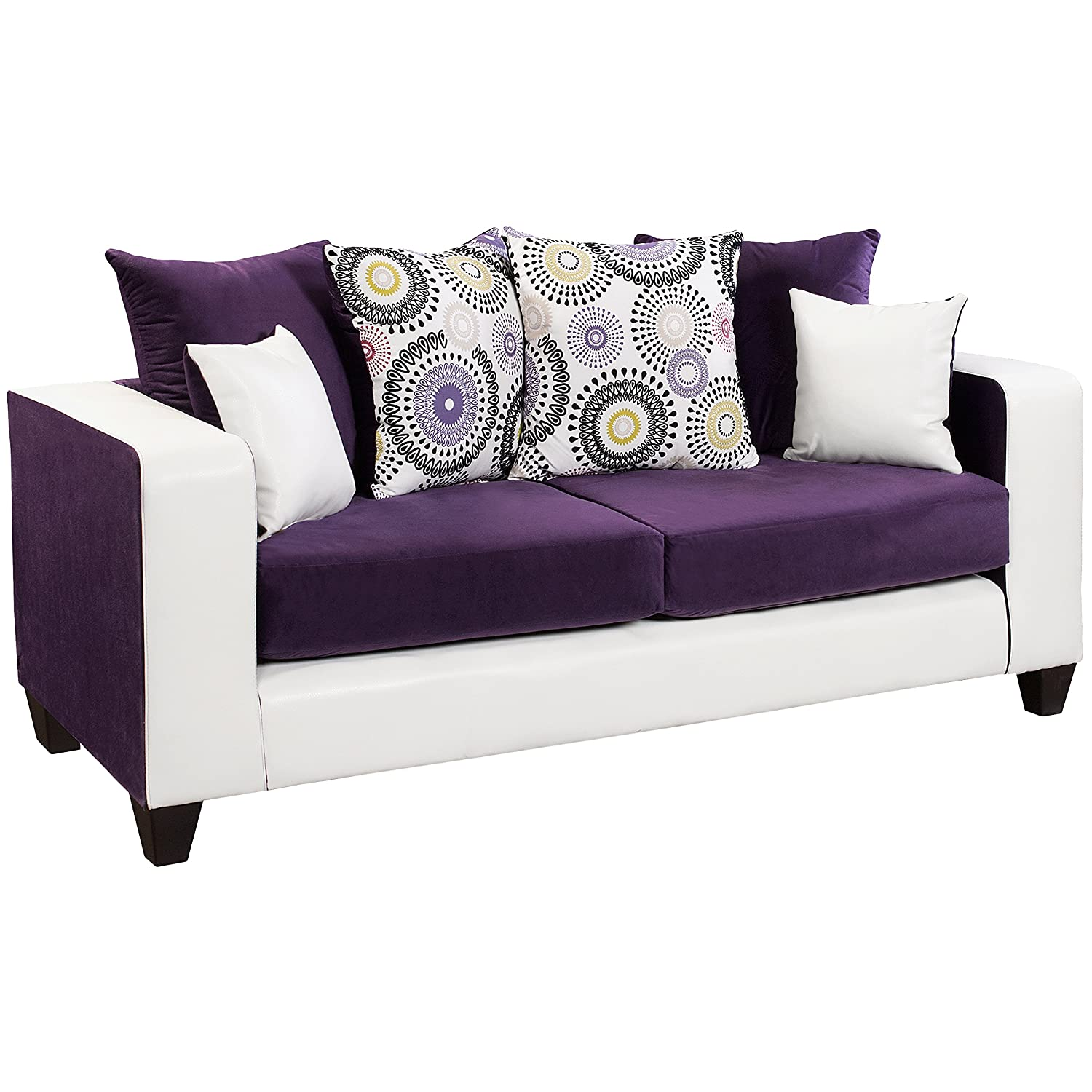 Amazon.com: Flash Furniture Riverstone Implosion Purple Velvet Sofa:  Kitchen U0026 Dining