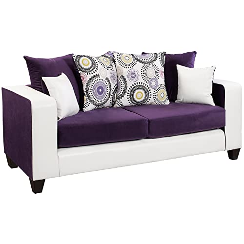 Flash Furniture Riverstone Implosion Purple Velvet Sofa