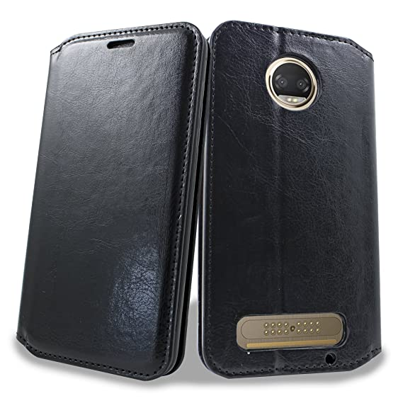 competitive price ac56a 34c64 Moto Z2 Play Case, Moto Z Play 2 Case, Mstechcorp [Stand Feature] Wallet PU  Leather Protective Case [Card Pockets] Flip Cover For Motorola Moto Z Play  ...