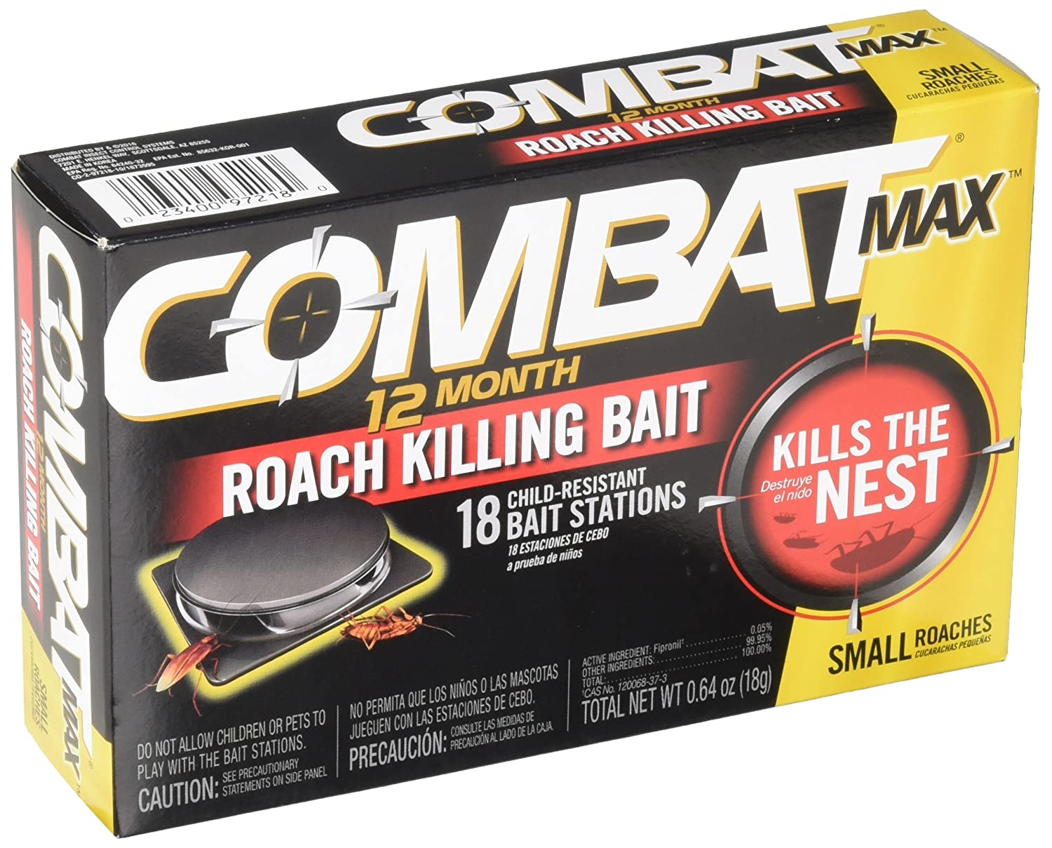 Combat Max 12 Month Roach Killing Bait, Small Roach Bait Station Review