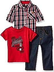 Ecko Unltd. Baby Boys Long Sleeve, T-Shirt and Pant Set (More