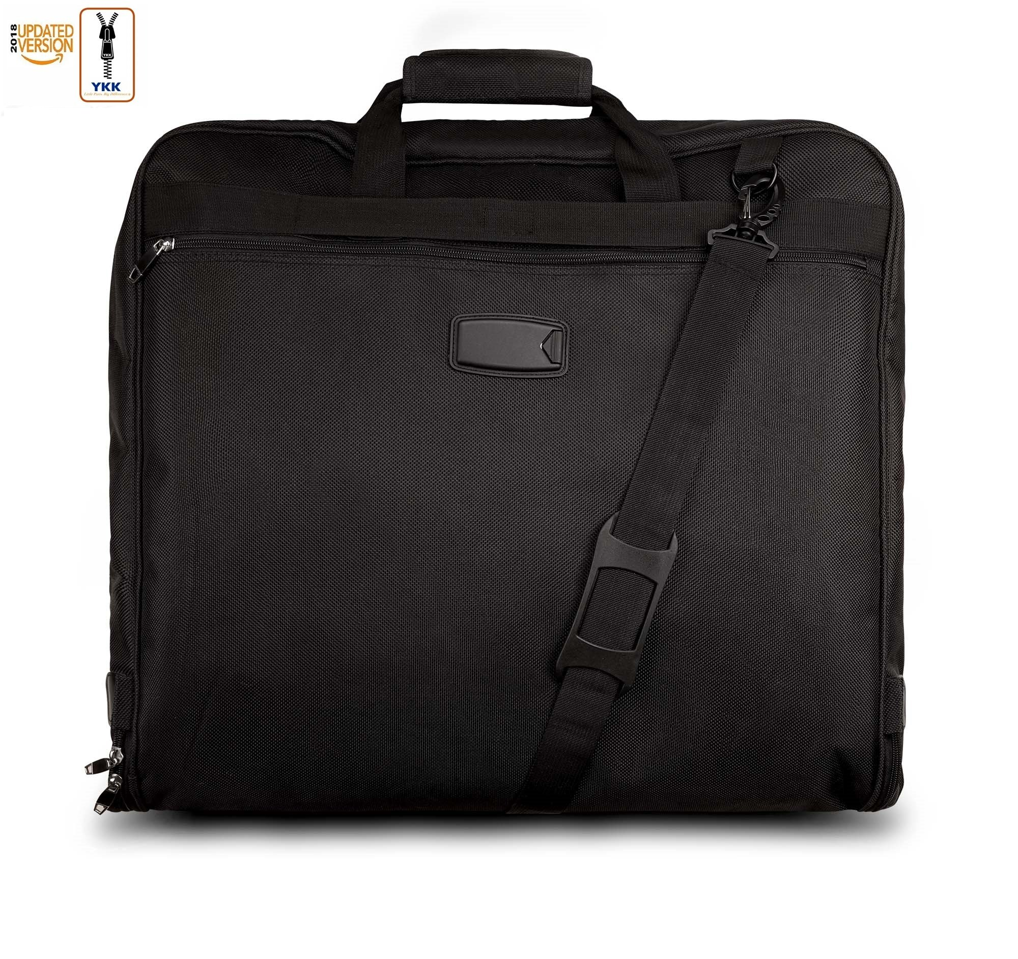 3 Suit Carry On Garment Bag for Travel & Business Trips With Shoulder Strap 40'' Bagazzi Brand by Bagazzi (Image #8)