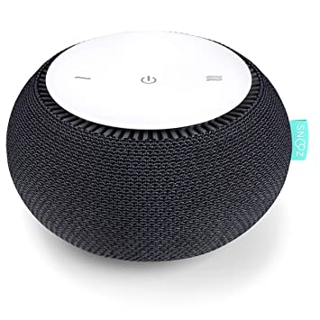 SNOOZ White Noise Sound Machine - Real Fan Inside for Non-Looping White  Noise Sounds - App-Based