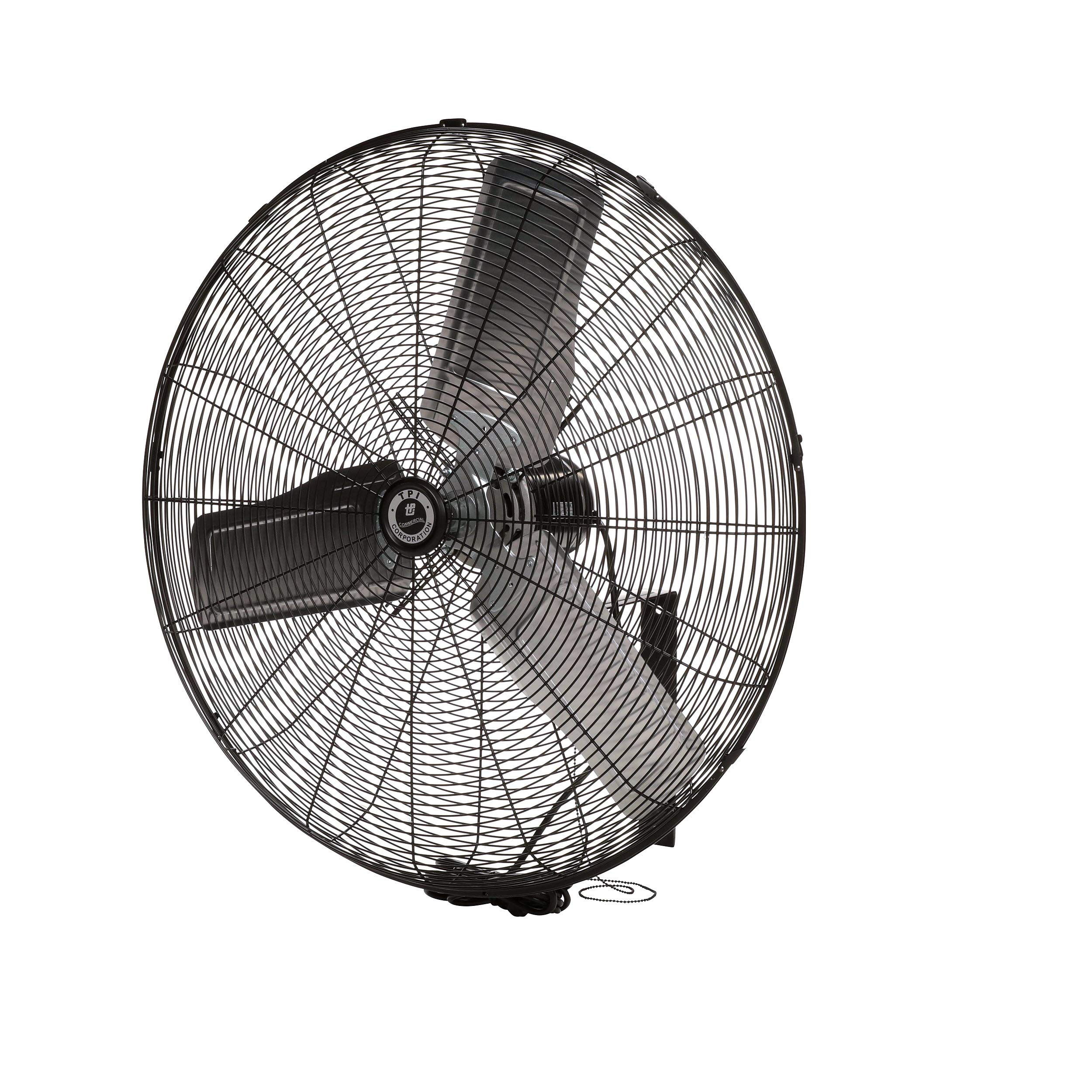 TPI Corporation Single Phase Wall Mount Commercial Circulator - 30'' Diameter, 120 Volt Exhaust Fan - Ventilation Fans. Commercial Extractor Fans by TPI