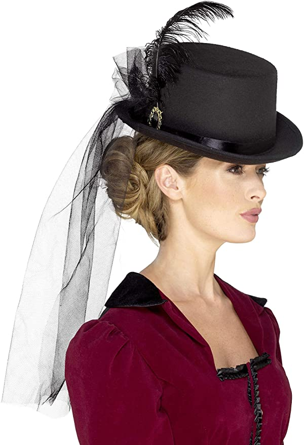 Steampunk Hats | Top Hats | Bowler Smiffys 44638 Day of The Dead Top Hat $20.77 AT vintagedancer.com