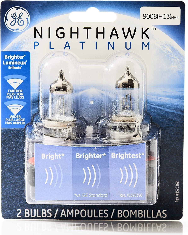 GE Lighting 9008-H13 NHP/BP2 Nighthawk Platinum Replacement Bulb, 2-Pack
