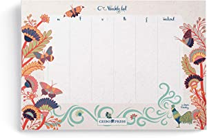Ceibo Press Weekly Planner Pad by Laura Varsky (52 undated Sheets per Notepad)