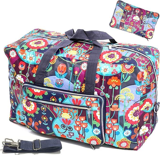 Amazon.com: Bolsa de viaje grande y plegable de 50 l, bolsa ...