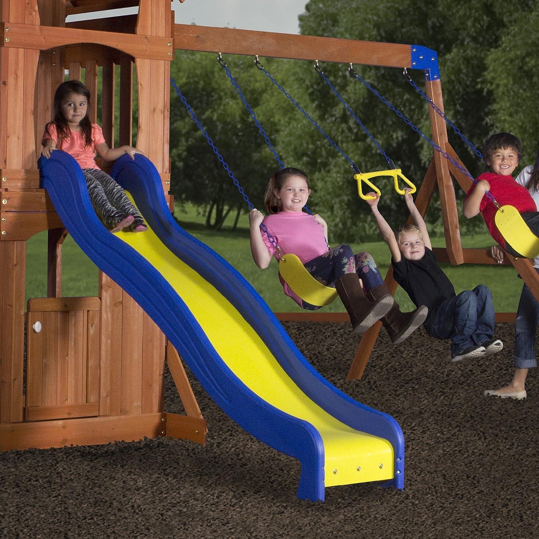 amazon com backyard discovery parkway all cedar wood playset