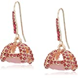 """Betsey Johnson """"Sweet Shop"""" Pave Cage Stone Drop Earrings"""