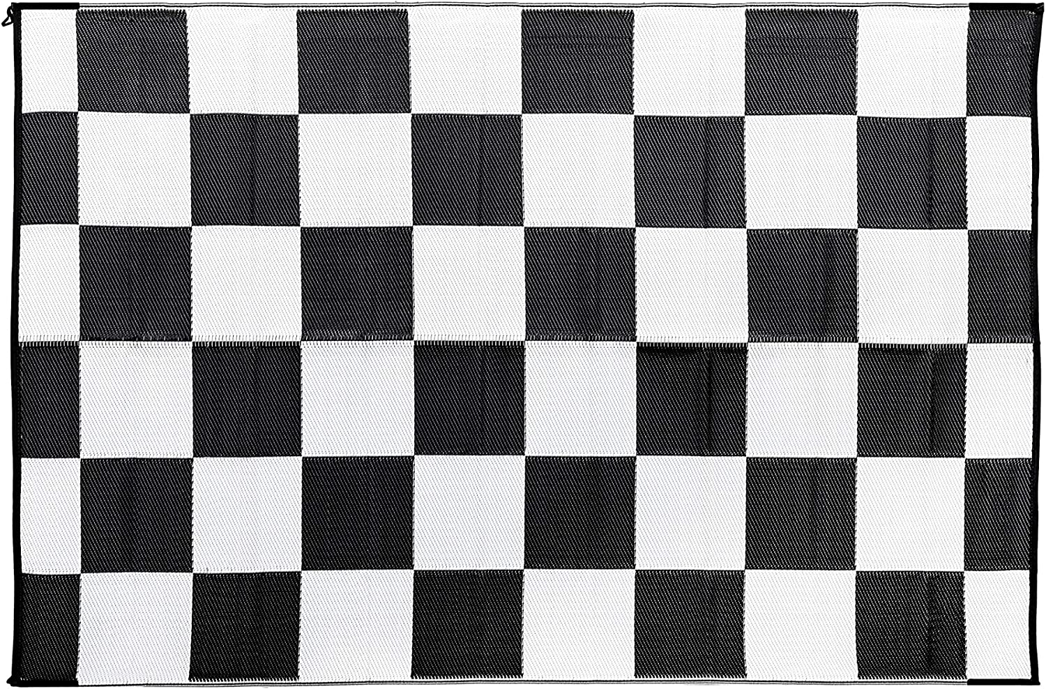 Amazon Com Camco Black White 42884 Reversible Checkered Outdoor Mat 6 X 9 Automotive