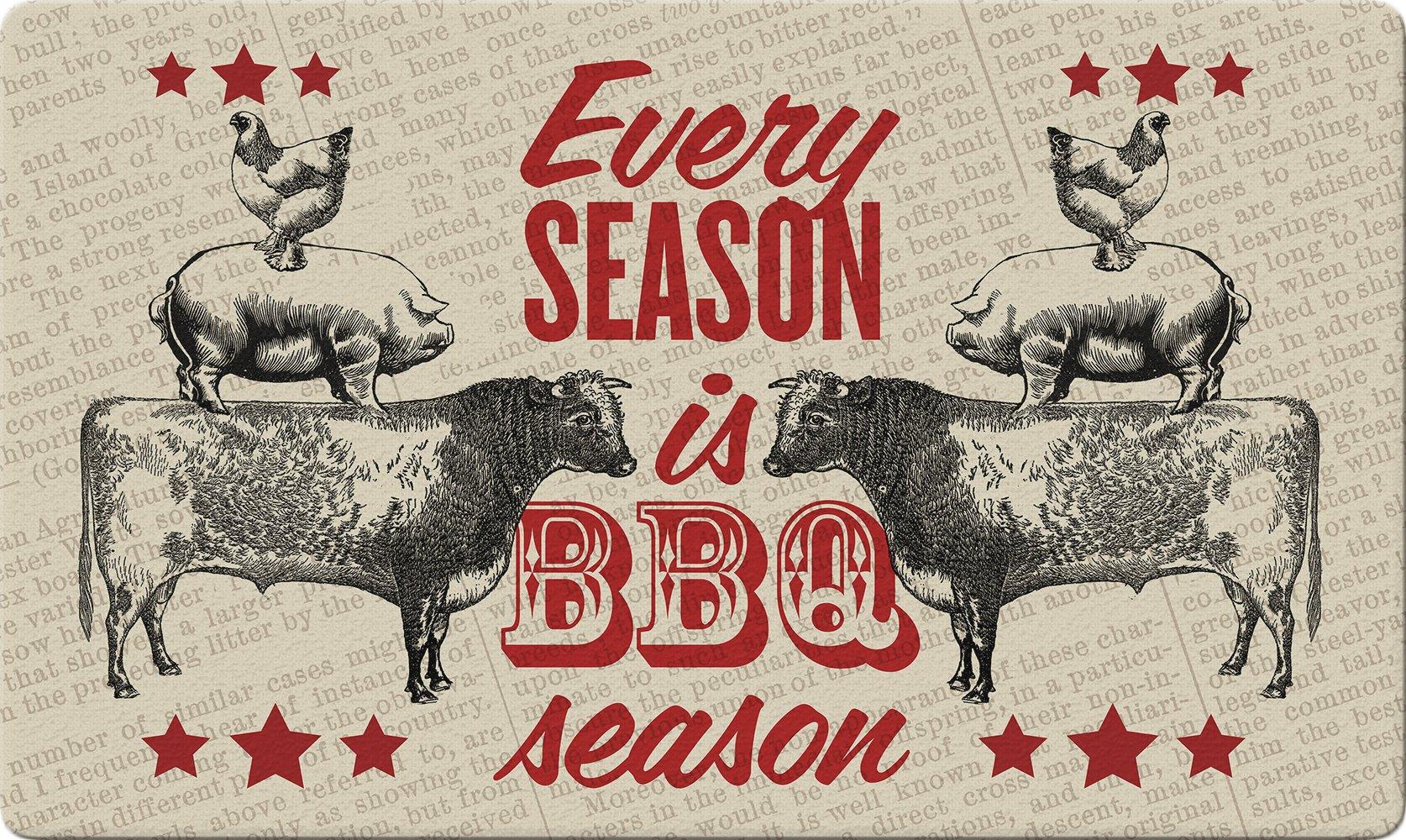 Toland Home Garden 800413 BBQ Season Doormat, 18'' x 30'', Multicolor