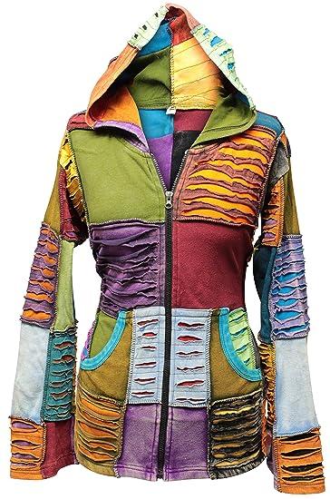 Shopoholic Moda Nueva Mujer Rasgada Hippie Chaqueta Pierdas costuras Cárdigan Patchwork chaqueta: Amazon.es: Ropa y accesorios