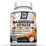 BRI Nutrition Magnesium Citrate - 125 Count 400 mg per Veggie Capsules - 125 Sevings